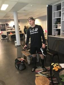 Max Krogdahl på Asker Treningssenter i forbindelse med TV2 opptaket.