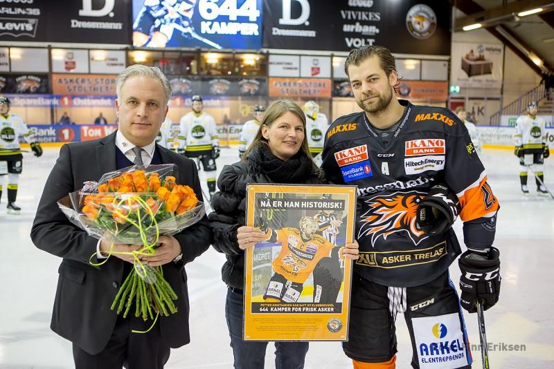 Petter Kristiansen fikk heder for å toppe adelskalenderen i antall spilte kamper