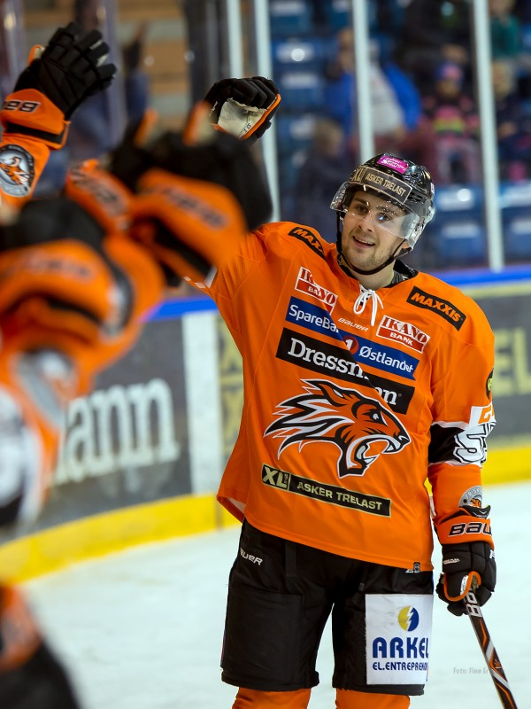Endre Medby med sitt andre for kampen - og sesongen så langt.