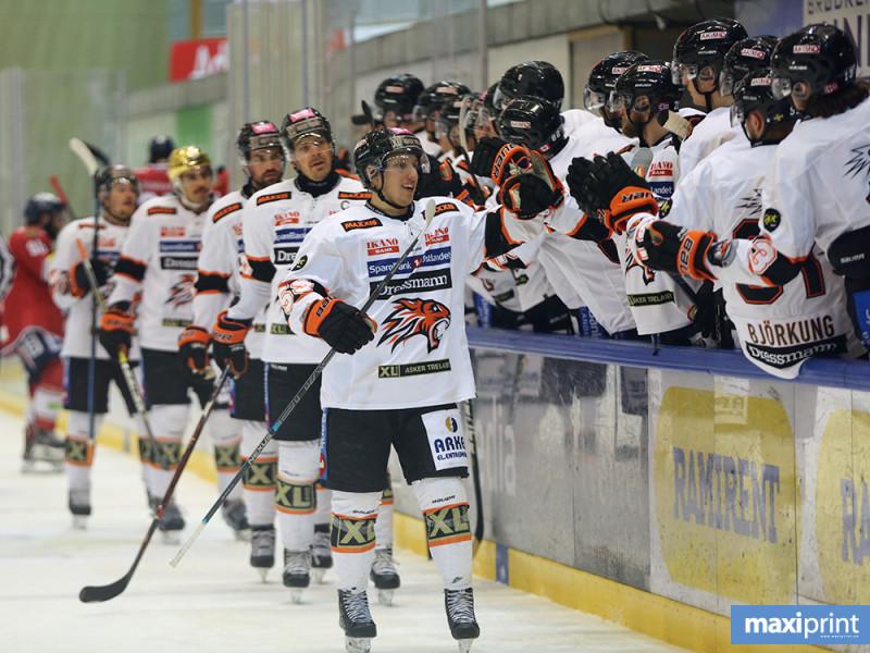 To scoringer ble det på Viktor Granholm i kveld. Foto: Arild Åssveen, Maxiprint
