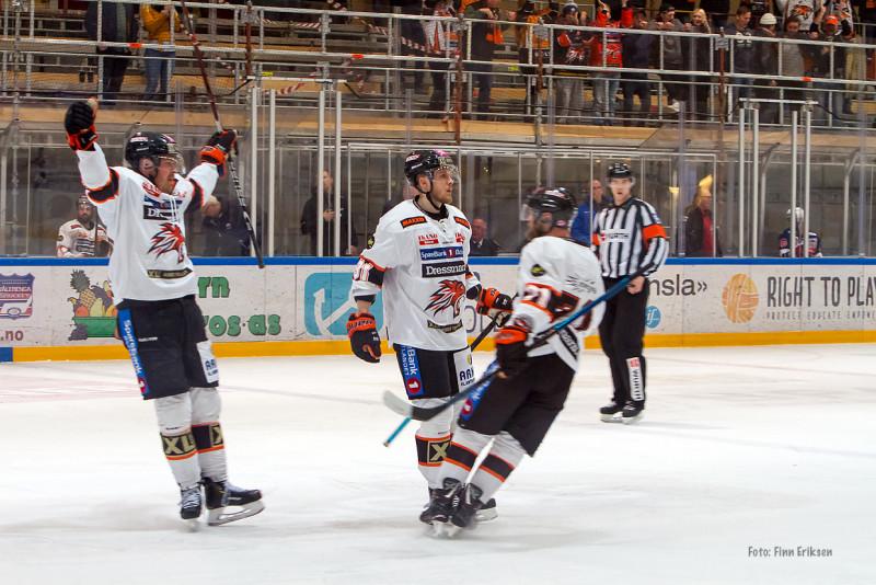 VIctor Björkung scoret i sin andre kamp på rad. FOTO: Finn Eriksen
