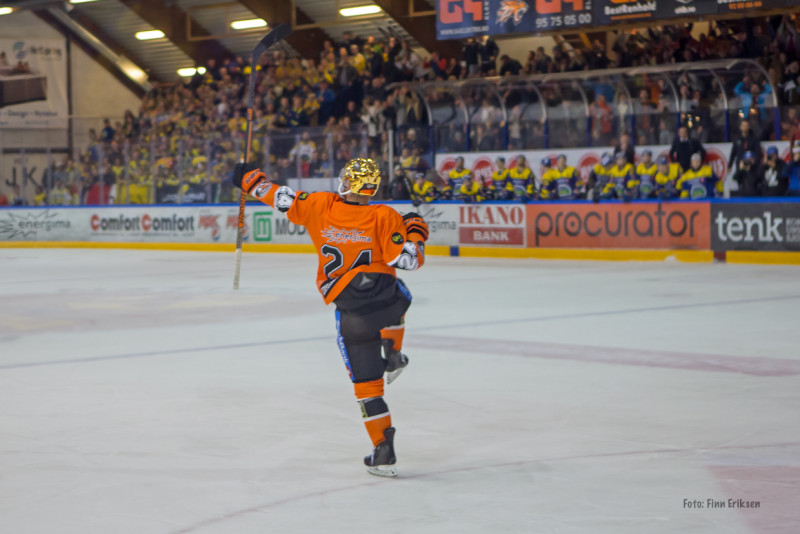 Hampus Gustafsson var tilbake fra skade, og vartet opp med to mål i kveld. FOTO: Finn Eriksen