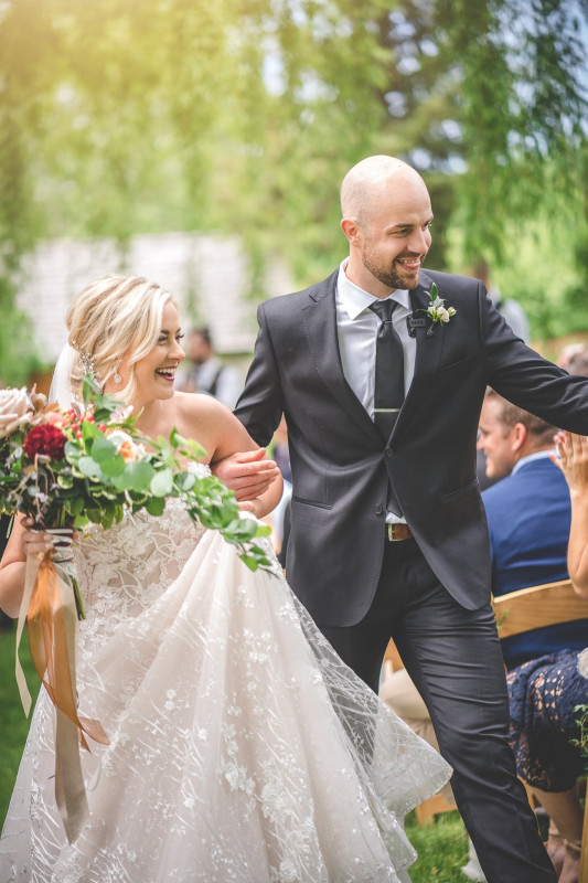 Jennifer og Garrett Thompson giftet seg i helgen.