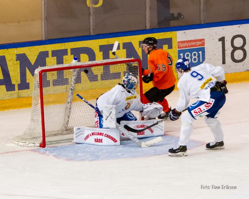 Viktor Granholm åpnet scoringsshowet med en legger scoring.