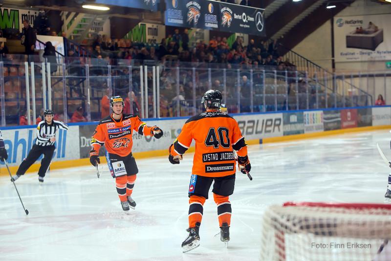 Lystad Jacobsen scoret sitt fjerde for sesongen Foto: Finn Eriksen